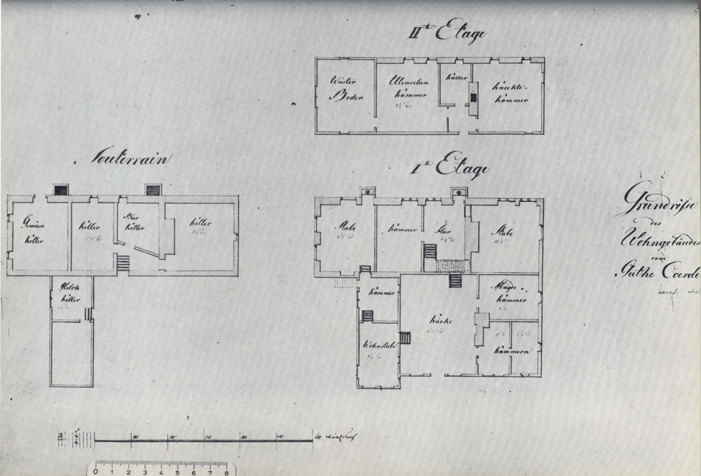 Plan der neuen Hofanlage