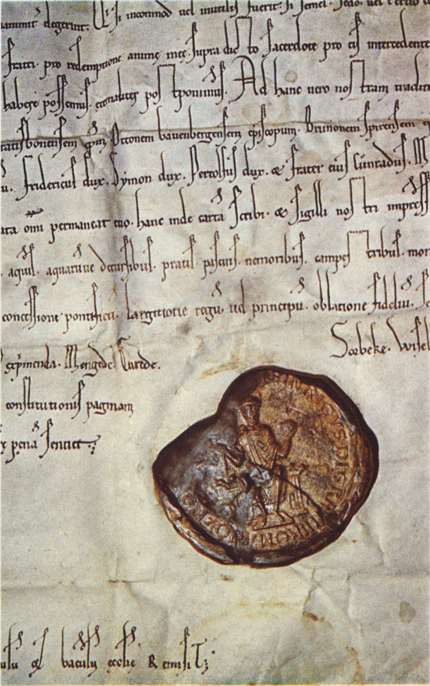 Älteste Original-Urkunde über Coerde