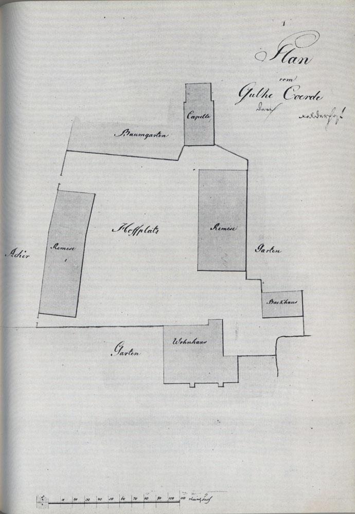 Plan der alten Hofanlage